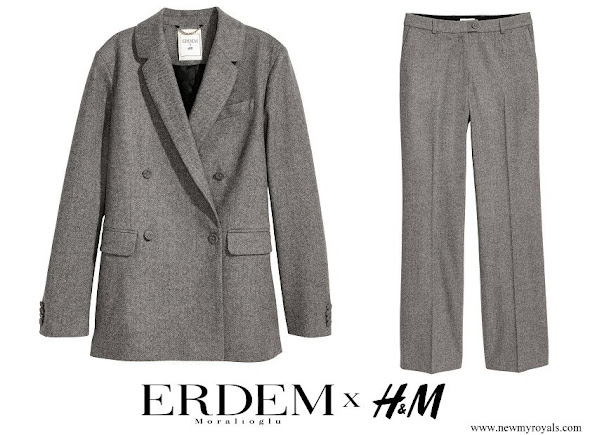 Princess Victoria wore ERDEM x H&M Wool Pantsuit