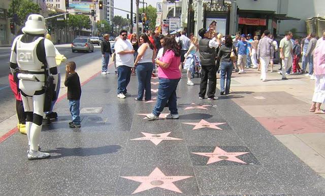 Calçada da Fama na Califórnia