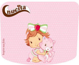 Etiqueta Nucita de  Fiesta de Strawberry Shortcake Bebé  para imprimir gratis.