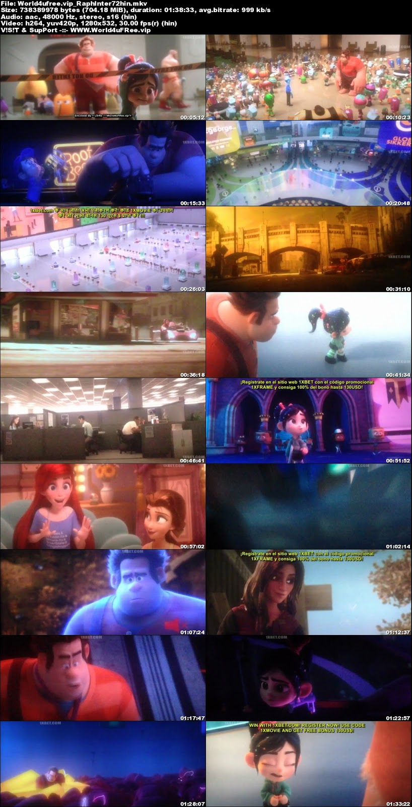 Ralph Breaks the Internet 2018 Hindi Dubbed 720p HDCAM 700Mb x264 world4ufree.vip, hollywood movie Ralph Breaks the Internet 2018 hindi dubbed dual audio hindi english languages original audio 720p BRRip hdrip free download 700mb movies download or watch online at world4ufree.vip