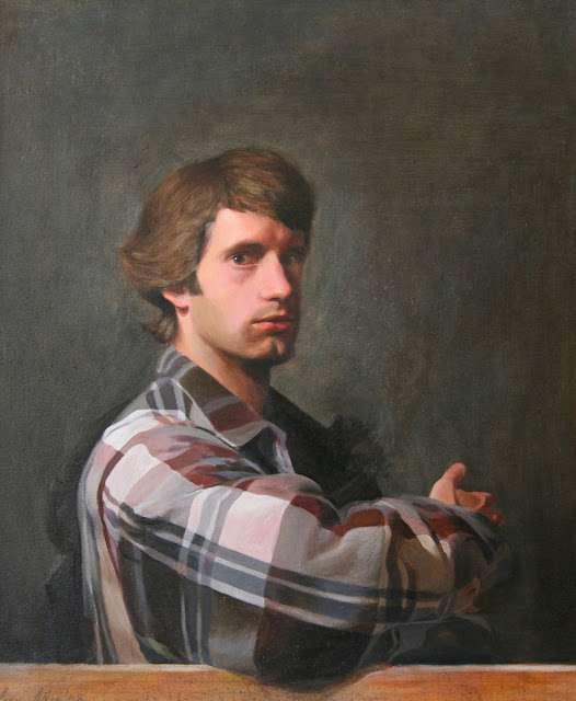 James Otto Allen, Portraits of Painters, Self Portraits, Gillian Anderson, Menier Gallery, info@jamesallenpaintings.com