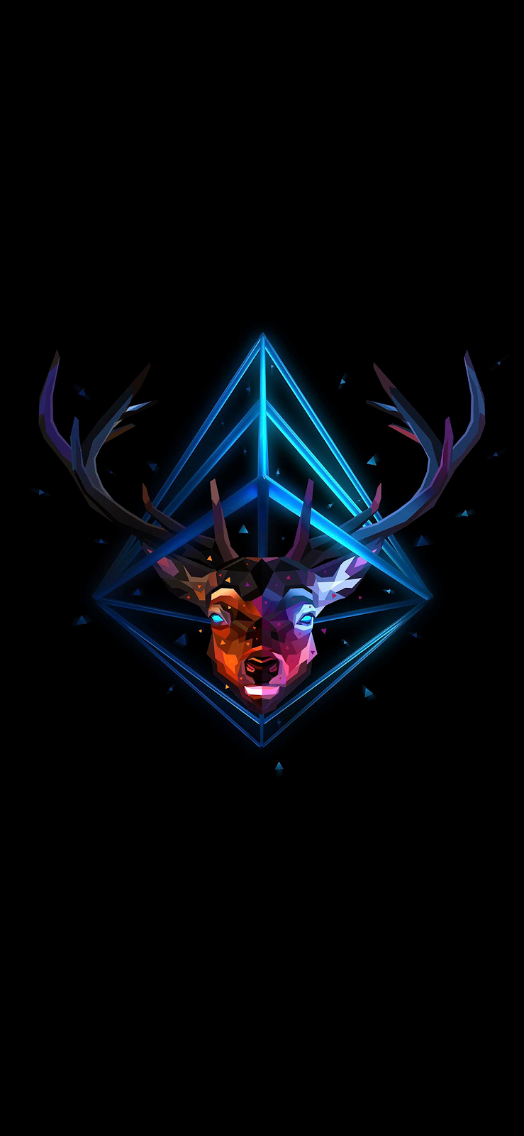 Polygonal Stag Head (Saving battery for Amoled display)