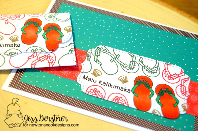 Mele Kalikamaka Card by Jess Gerstner for Newton's Nook Designs