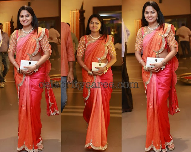 Suhasini Pearl Work Saree