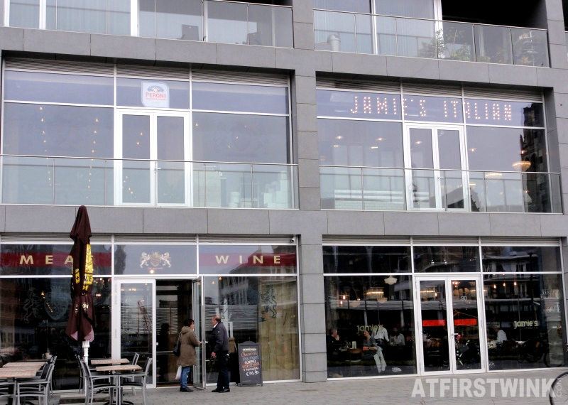 Jamie's Italian in Markthal Rotterdam, the Netherlands (outside entrance)