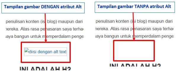 Optimasi gambar dengan menambahkan Alt atribut