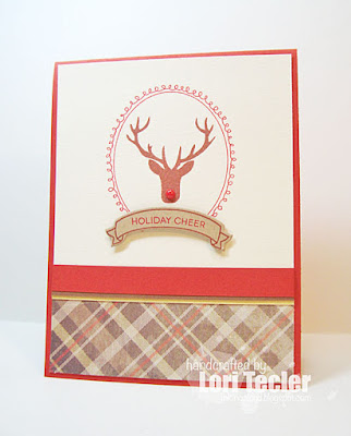 Holiday Cheer card-designed by Lori Tecler/Inking Aloud-stamps from Clear and Simple Stamps