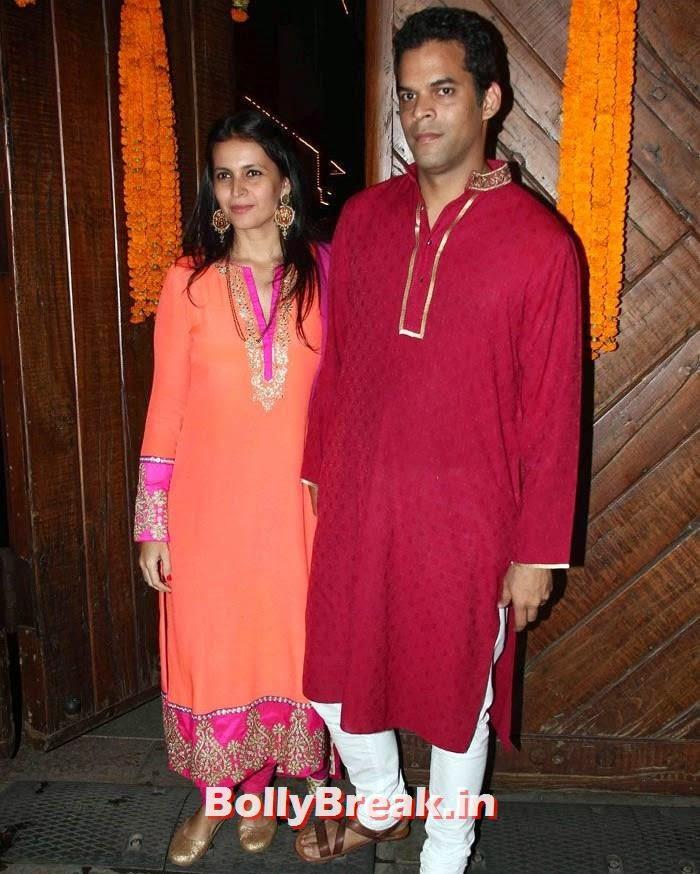 Vikramaditya Motwane, Ishika Mohan, Photos from Amitabh Bachchan's Diwali Bash 2014