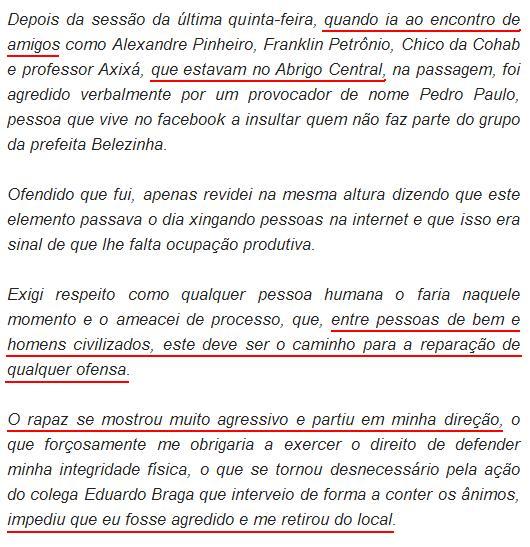 Chapadinha (MA): Jovem agredido por Eduardo Sá refuta nota do vereador