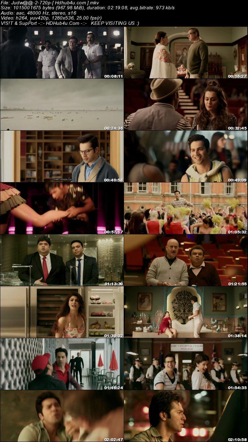 Judwaa 2 Hindi Movie 480p HDRip 350Mb Download