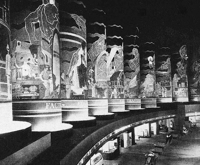 hollow display columns at the 1933 Chicago Worlds Fair