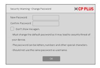 Change password DVR CP Plus