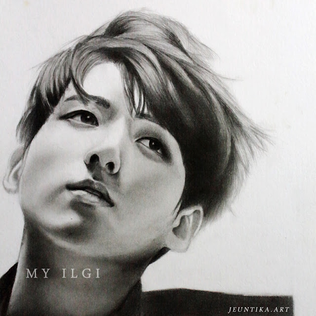 jungkook fanart graphite drawing
