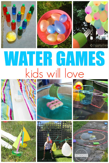 Water Games - tons of really fun, unique and creative water games kids will love. Perfect for summer bucket list, summer activities for kids, kids activities, water activities for kids.