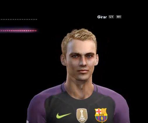 وجه حارس برشلونة الجديد Jasper Cillessen لـ PES 2013