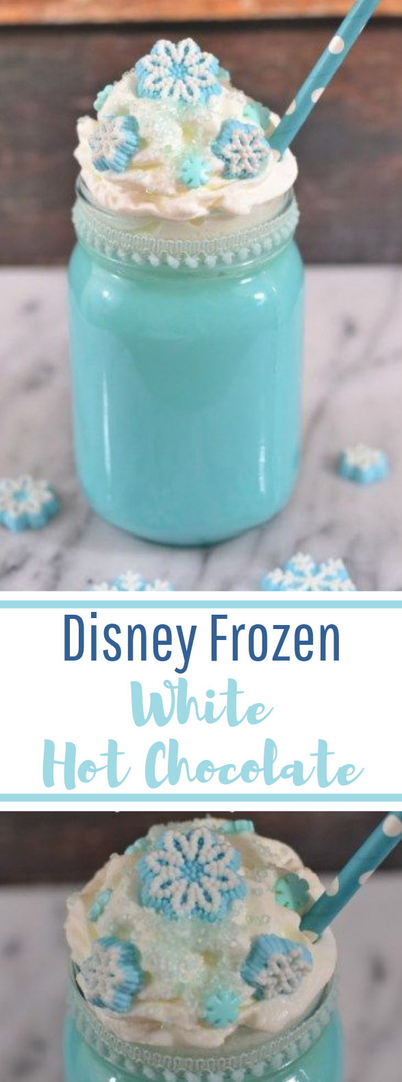Disney's Frozen White Hot Chocolate #easy #drinks