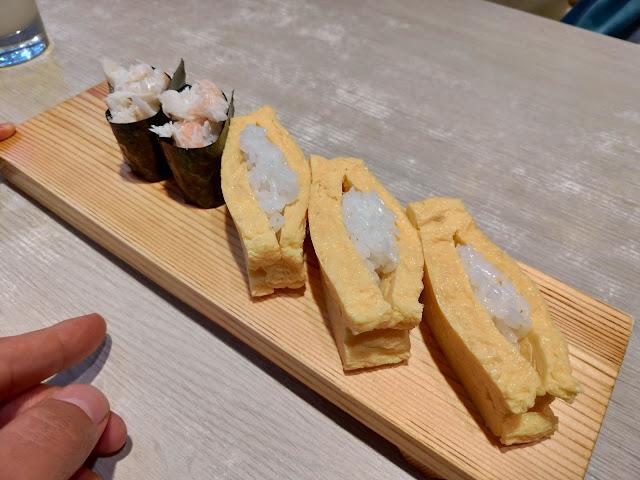 たまごとカニ|大阪府堺市初芝駅近くの「一作鮨」へ