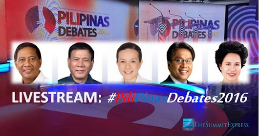 LIVESTREAM: 2nd PiliPinas Debates 2016 on TV5 video now up | The Summit Express