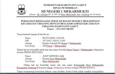 Contoh Perjanjian/MoU pihak Sekolah dengan Pihak Pemerintahan Desa, https://riviewfile.blogspot.com