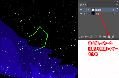 恒星用レイヤーの作成