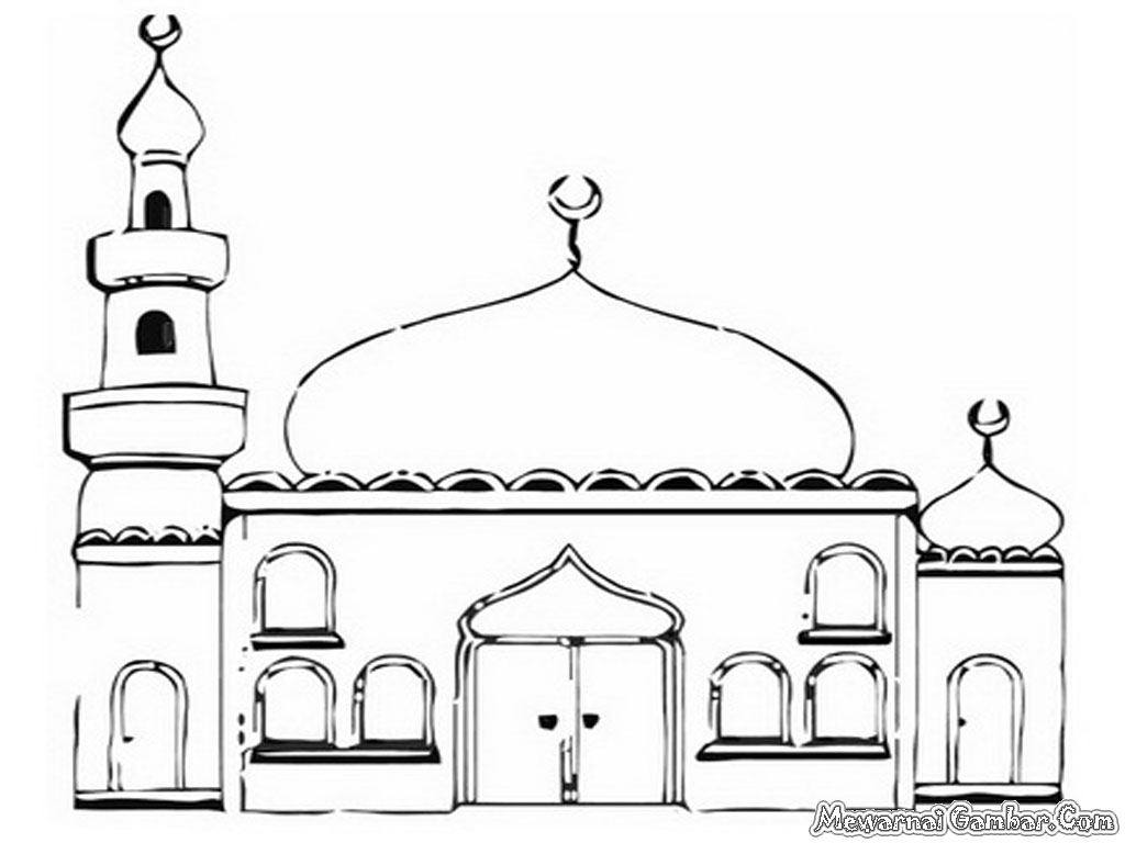 Dapatkan Contoh Gambar Masjid Untuk Lomba Mewarnai