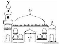 Mewarnai Gambar Masjid Istiqlal Mewarnai Rumah Ibadah Umat Islam Umat Islam Merayakan Isra Miraj Dimasjid