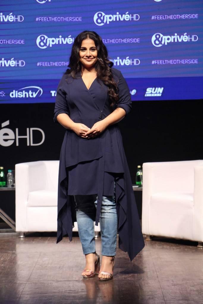 Vidya Balan At Prive HD New English Movie Channel Launch Gallery