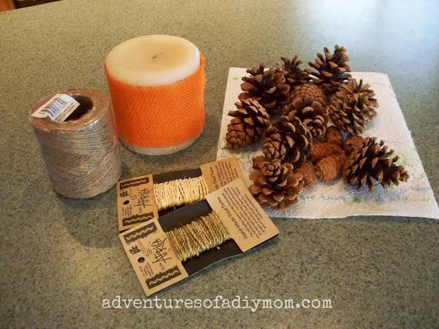 pine cone flower craft