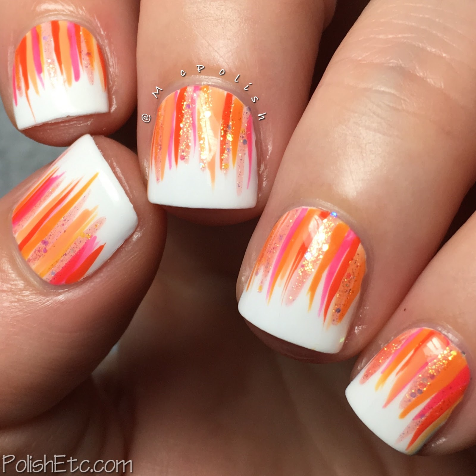 Orange Nails for the #31DC2017Weekly - McPolish - Orange Zoya Waterfall