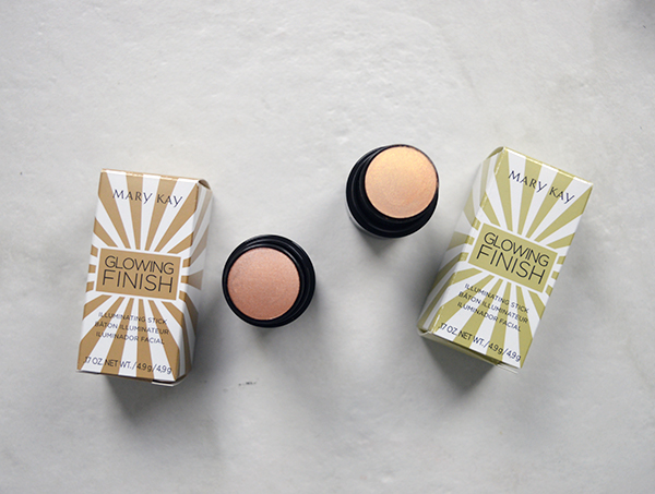 Mary Kay Cosmetics Glowing finish illuminating sticks in golden and bronze packaging