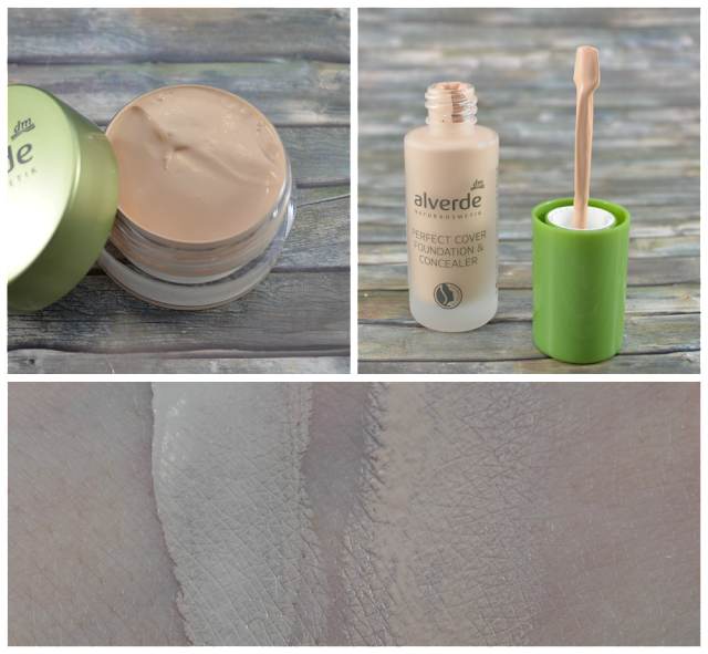 Alverde Gel Make-Up 10 soft honey & perfect cover Foundation & Concealer 10 vanilla Swatches