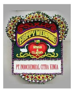 Bunga Papan Happy Wedding Gelora Jakarta Pusat