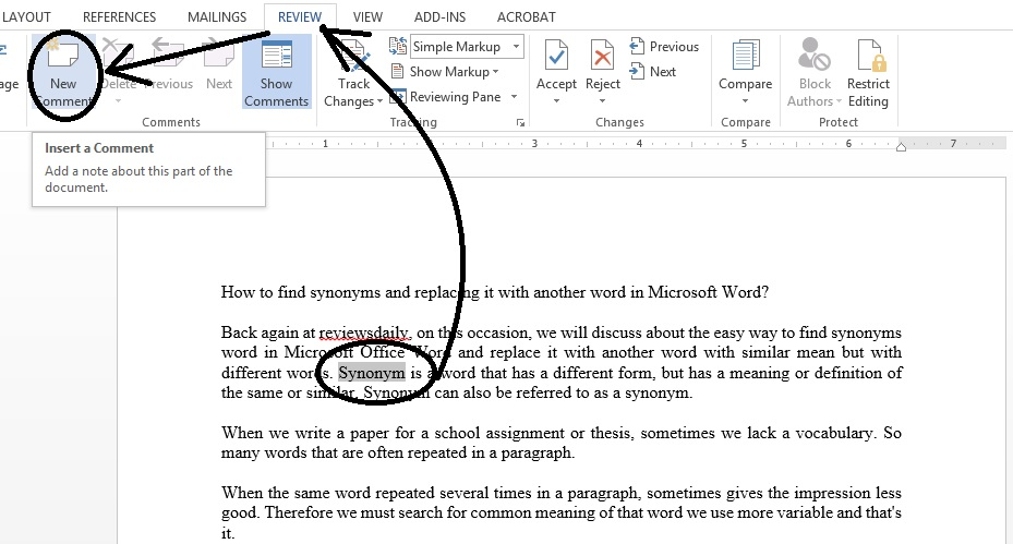 How to Create Remove Delete Comment in Microsoft word ...