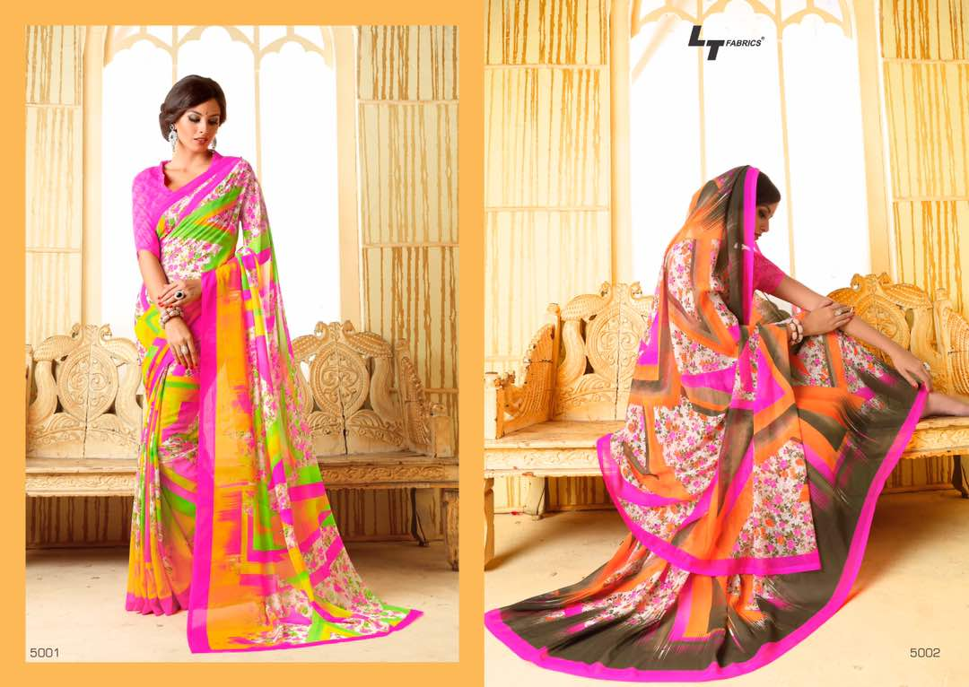 Zara 17 – Casual Wear Printed Saree Buy Online Wholesale Rate