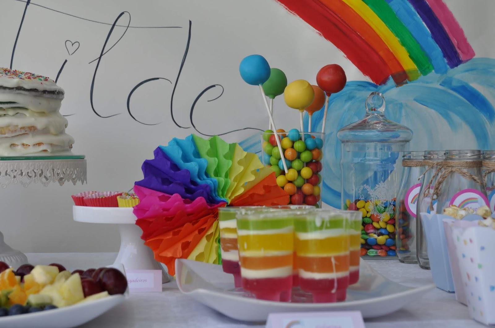 aniversario arco-íris rainbow birthday party