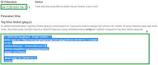 cara memasang trackink kode google analytics pada blog