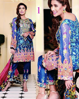 Nomi Ansari's Embroidered Chiffon collection Season 2