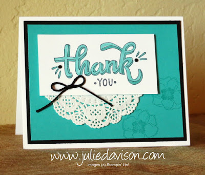 Stampin' Up! Color Me Happy Thank You Card with Stampin' Blends ~ www.juliedavison.com