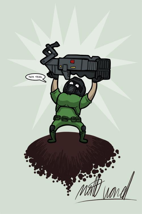 Doomguy cartunizado
