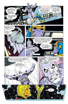 Debate entre Magus y el doble de Thanos