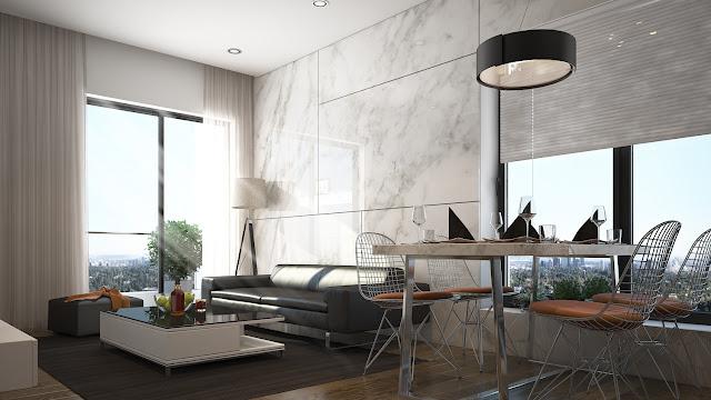 Thiết kế nội thất căn hộ The Golden Palm Lê Văn Lương