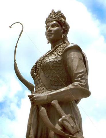 Statue of Rani Durgavati at Jabalpur, Madhya Pradesh