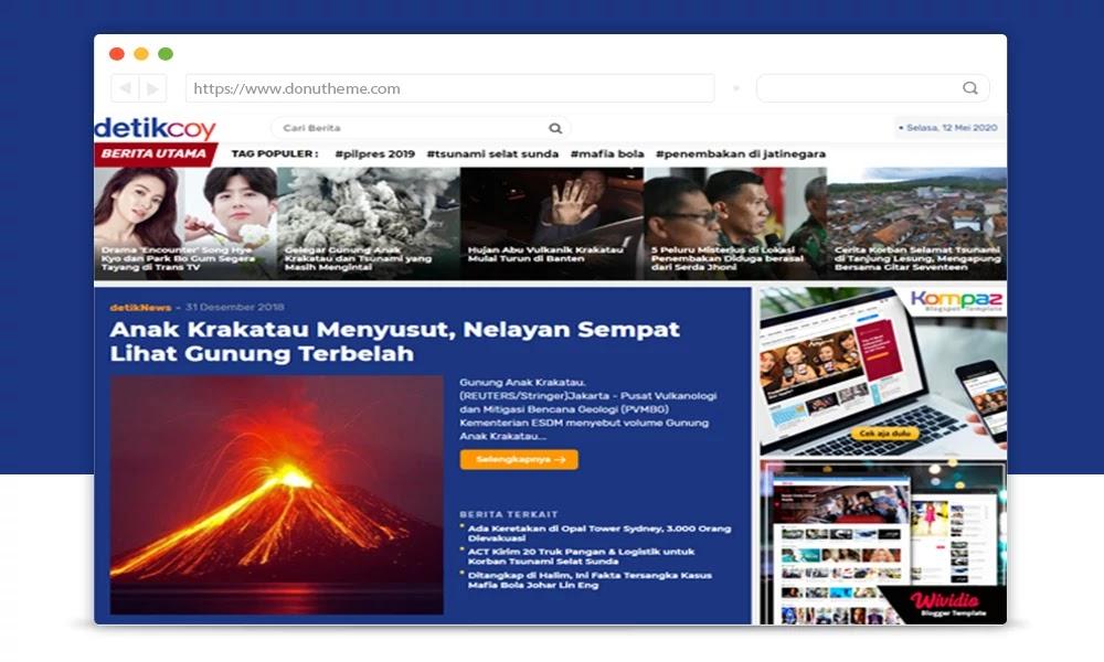 Detikcoy Premium Blogger Template