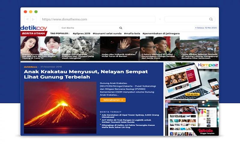 Detikcoy Premium Blogger Template - Responsive Blogger Template