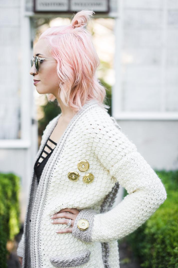 Week 4 of Evangeline Cardigan by @thehooknook for Furls Crochet