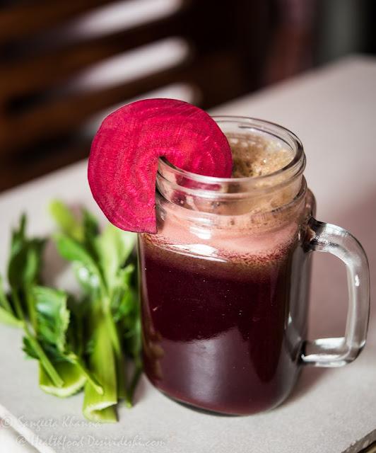 beet and celery juice
