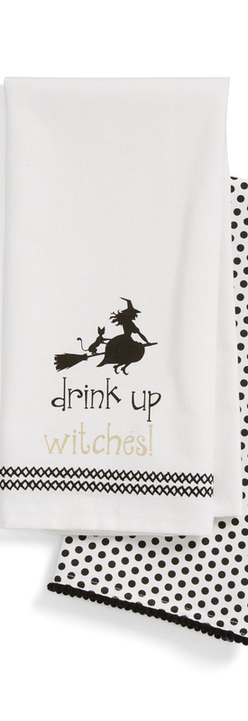 Levtex 'Drink Up Witches!' Dish Towels (Set of 2)
