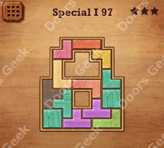 Cheats, Solutions, Walkthrough for Wood Block Puzzle Special I Level 97
