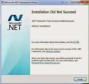 Error HRESULT 0x8000222 pada .NET Framework