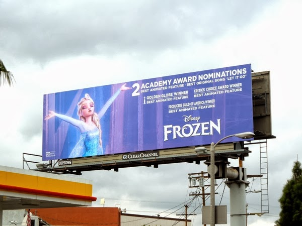 Frozen Academy Award nomination billboard